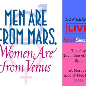 AishLIT Men Are From Mars, Women Are From Venus Flyer - Aish LA Website