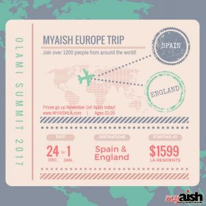 AishLIT Spain:England Trip Flyer - Aish LA Website