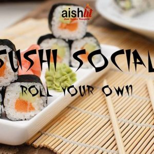 AishLIT Sushi Social Flyer - Aish LA Website