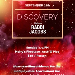 JMI Discovery With Rabbi Jacobs - Aish LA Website