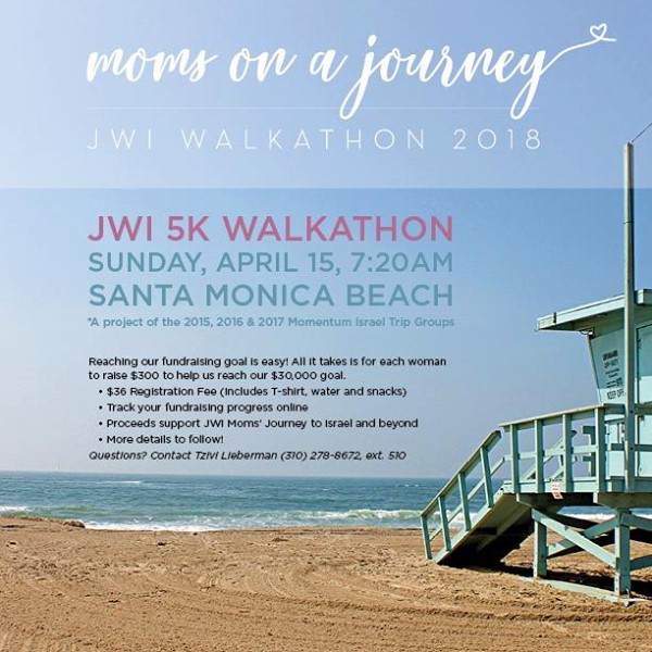 JWI 5K Walkathon - Aish LA Website