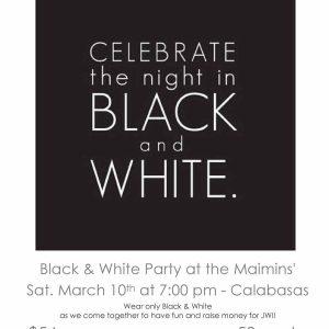 JWI Black and White Party - Aish LA Website
