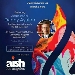 JWI Dinner With Ambassator Dany Ayalon - Aish LA Website