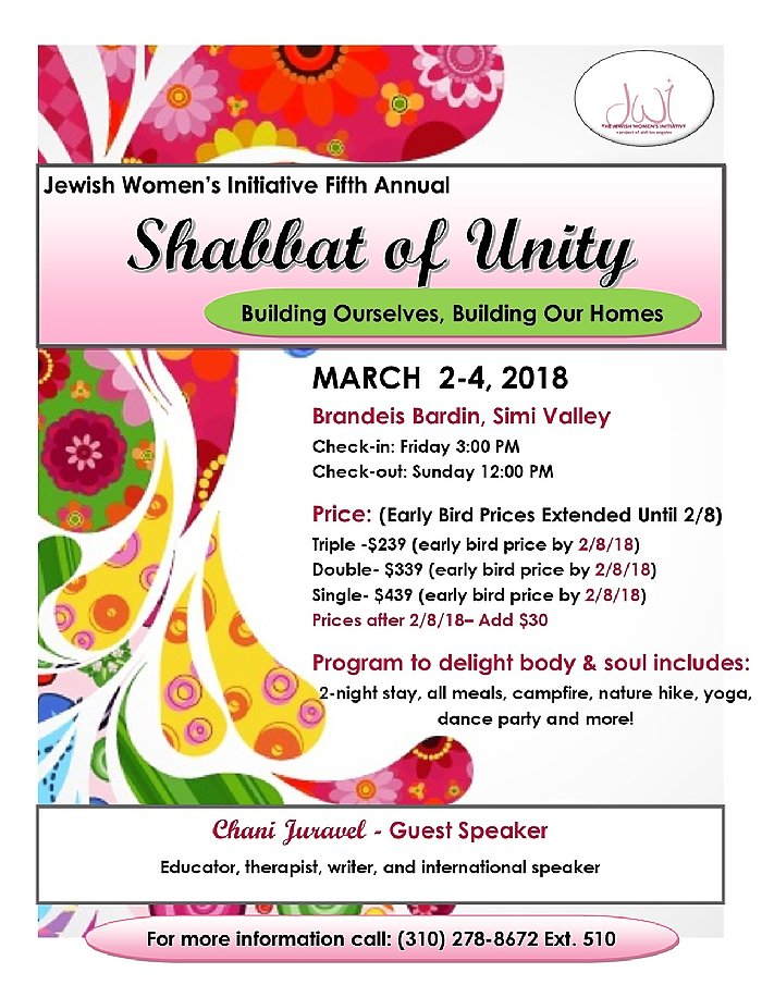 JWI Shbbat Of Unity - Aish LA Website