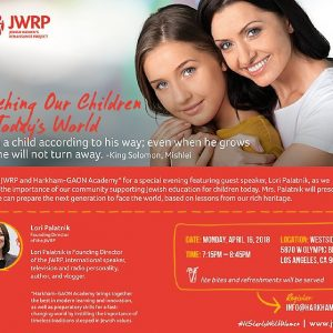 JWI Teaching Our Children In Today's World - Aish LA Website