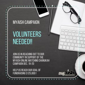 MyAish 33 Hours Matching Campaign - Aish LA Website