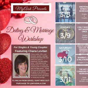 MyAish Dating and Marriage Workshop - Aish LA Website