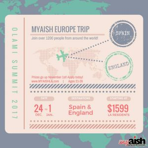 MyAish Europe Trip - Aish LA Website