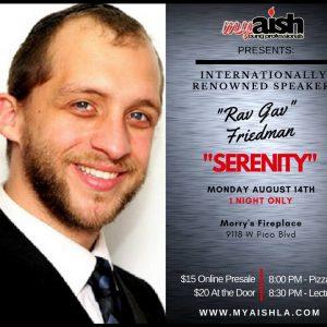 MyAish Rabbi Gavriel Friedman - Aish LA Website