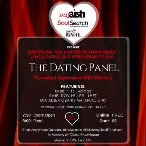 MyAish The Dating Panel Q&A - Aish LA Website