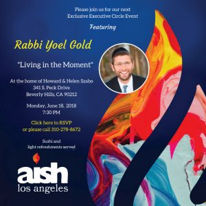 Executive Learning Events Rabbi Yoel Gold - Aish LA Website