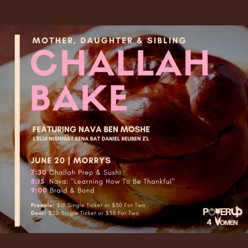MyAish Mother Daughter Challah Bake - Aish LA Website