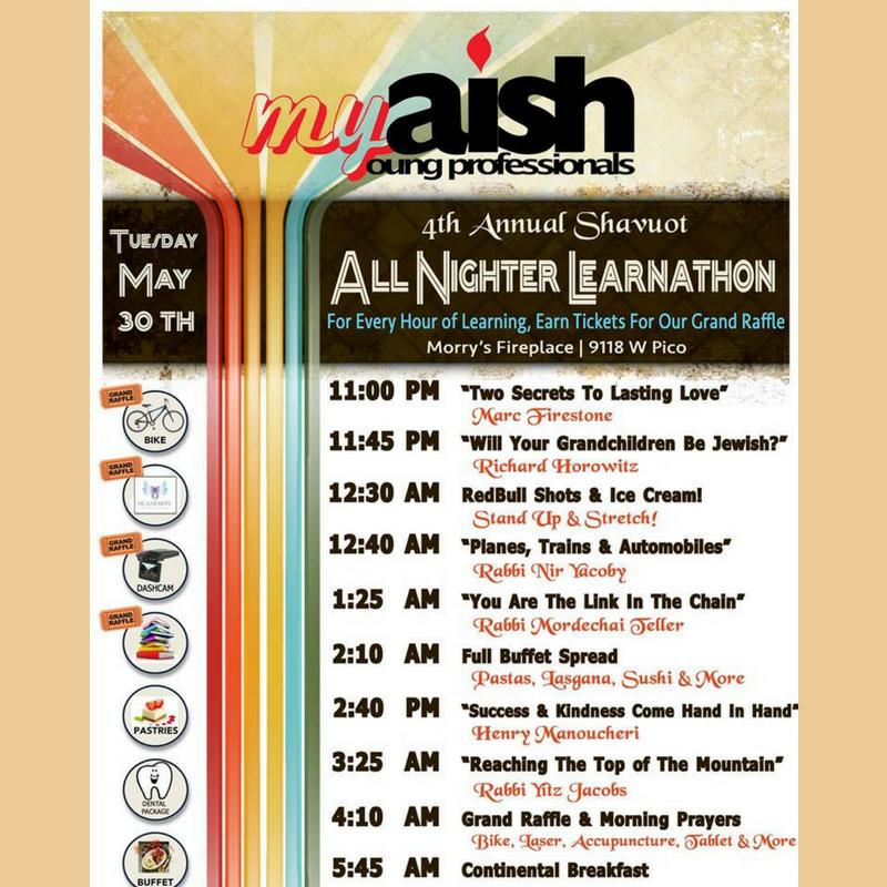 MyAish Sahvout Learnathon - Aish LA Website