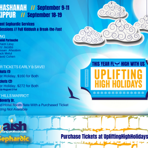 Uplifitng High holidays MyAish - Aish LA Website