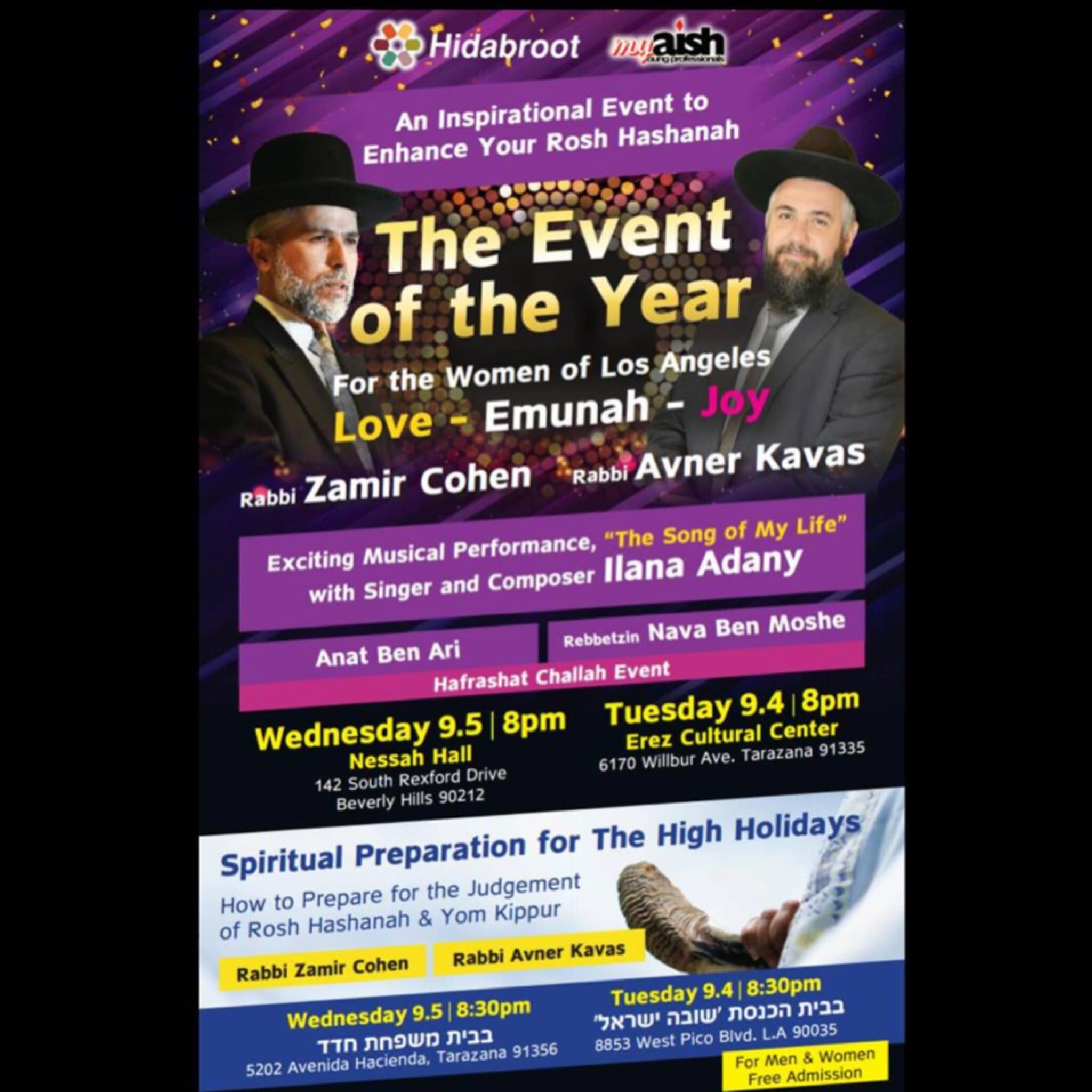 MyAish Rabbi Zamir Cohen and Rabbi Avner Kavas - Aish LA Website