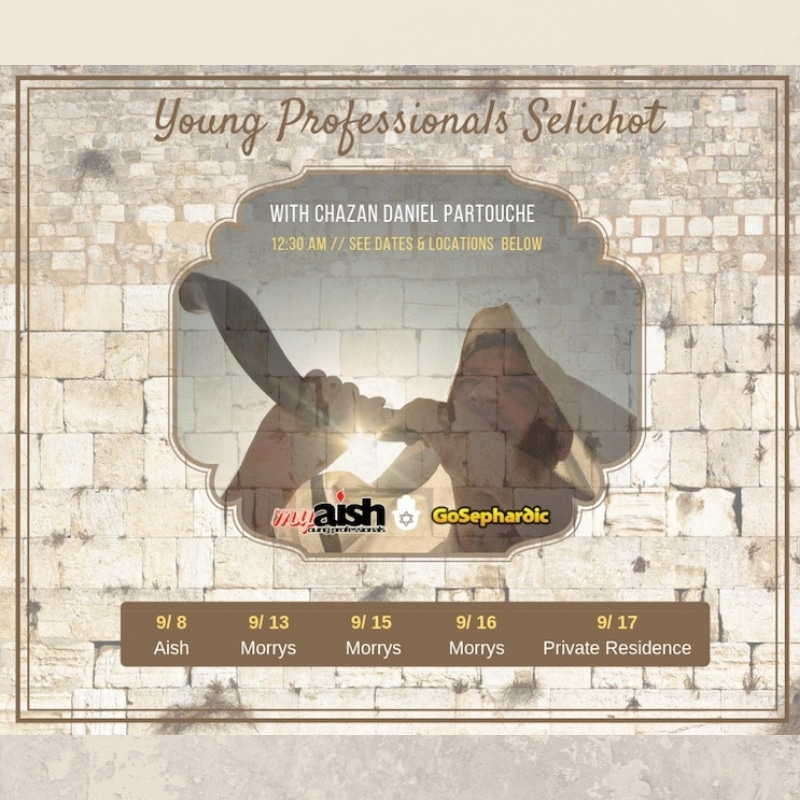 MyAish Young Professional Selichot - Aish LA Website