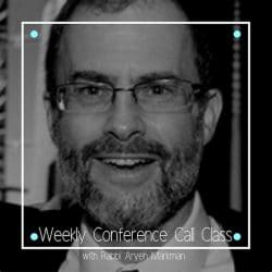 Weekly Conference Call Class with Rabbi Aryeh Markman Cover Photo - Aish LA Website