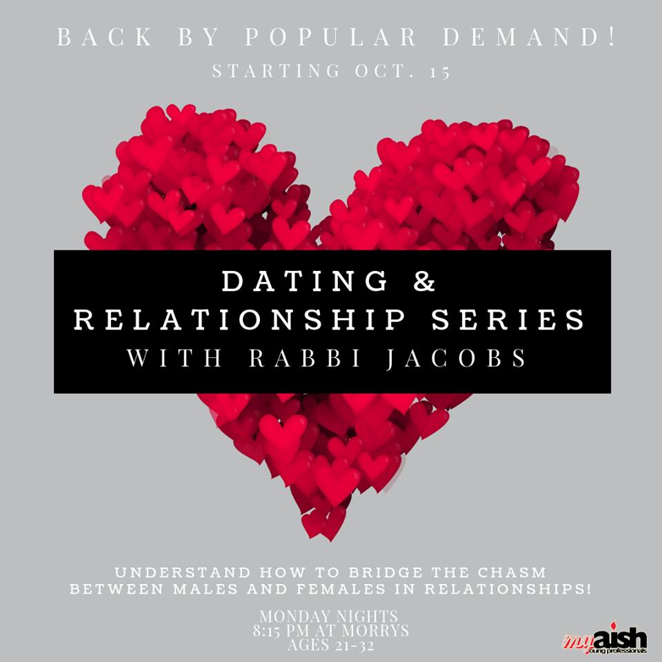Dating & Relationship Series with Rabbi Jacobs - Aish LA Website