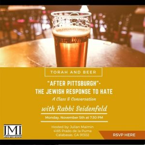 JMI Torah and Beer - Aish LA Website