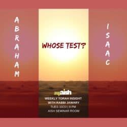 MyAish Weekly Torah Insight with Rabbi Jawary - Aish LA Website