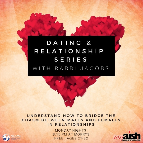 MyAish Dating and Relationship Series with Rabbi Jacobs - Aish LA Wesbite