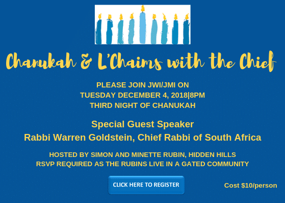 JWI Chanukah 2018 - Aish LA Website