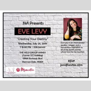 JWI Presents Eve Levy - Aish LA Website