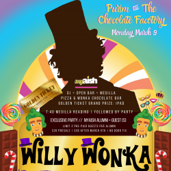 MyAish Willy Wonka Purim Party - AishLA Website