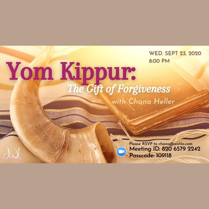 Yom Kippur with Channa Heller JWI - Aish LA Website