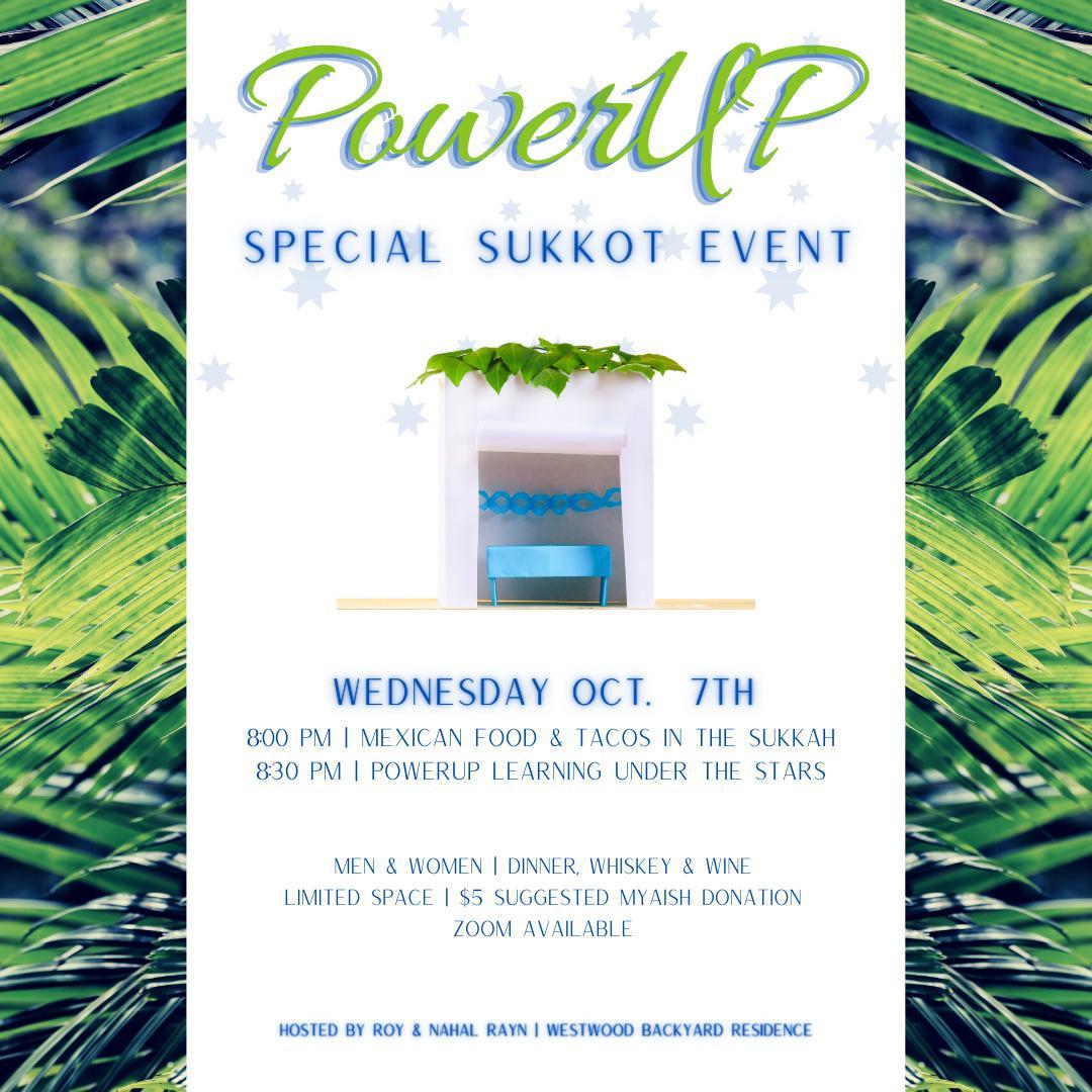 MyAish PowerUP Sukkot Event - Aish LA Website